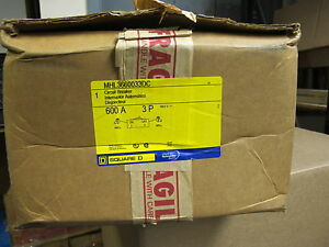 Square D Mhl3660033dc 3 Pole 600 Amp 600 Volt Circuit Breaker New