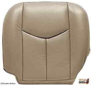 03 07 Chevy Silverado Driver Bottom Replacement Leather Seat Cushion Cover Tan