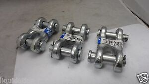3 New Stanley National Hardware 1 2 Zinc Plated Double Clevis Links 3248bc