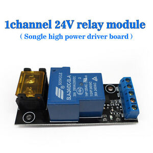 24v Single High Power Relay Module High Driver Board Isolated Drive