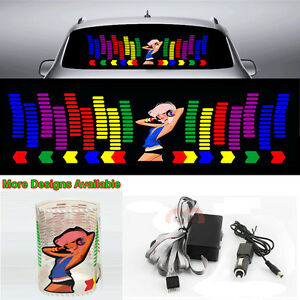 Dj Beauty Girl Car Sticker Music Rhythm Flash Light Sound Activated Equalizer