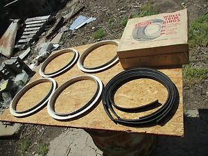 Nos Rotunda 14 Inch Wheel Beauty Trim Rings Original Ford Galaxie Custom Deluxe
