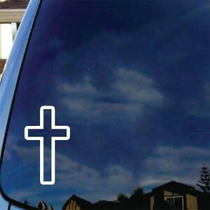 Cross Vinyl Decal Car Sticker Church Religous Jesus Bible Christian Christ Truck