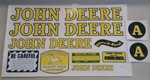 John Deere Model A Tractor Precision Replacement Decal Set Water Transfer 17