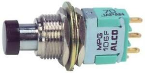 Te Connectivity Alcoswitch Mpg 206r Pushbutton Switch Dpdt Momentary