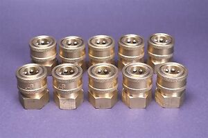 10 Landa Karcher Brass 3 8 Coupler Pressure Washer Quick Connect Female 4000 Psi