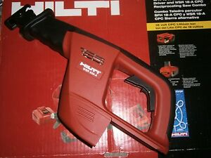 Hilti Wsr 650 a 24v Cordless Reciprocating Saw tool Only