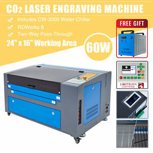 Omtech 60w 24x16 Inch Co2 Laser Engraver Cutter With Cw 3000 Water Chiller