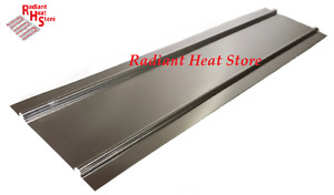 25 4ft Aluminum Double Omega Radiant Floor Heat Transfer Plates For 1 2 Pex