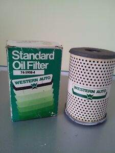 Vintage Western Auto Oil Filter 74 5908 4