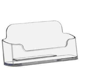 84 Deflecto Style Clear Plastic Business Card Holder Display Wholesale Lot