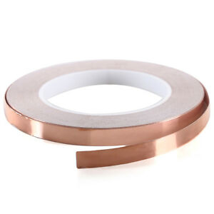 30m 10mm Single Side Conductive Shield Copper Foil Tape For Pda Pdp Lcd