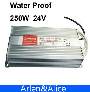 250w 24v 10 2a Water Proof Outdoor Single Dc Output Switching Power Supply Smps