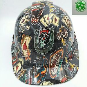 Hard Hat Cap Style Custom Hydro Dipped Osha Approved Wicked Gambler New