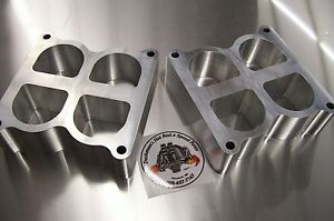 Fits Weiand Tunnel Ram Aluminum Spacer Gasser Ford 351c Cleveland Riser 2 Tall