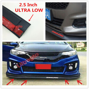 2 5 Front Bumper Lip Splitter Body Spoiler Valence Chin Trim Side Skirt Red2