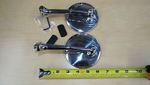 2 Pair Outside Door Peep 4 Inch Mirror Hot Rod Ford Chevy Dodge Rat Rod
