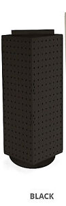 Black 4 sided Revolving Pegboard Counter Display 8w X 20h Inches