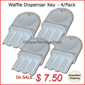universal Waffle Key For Paper Towel Toilet Tissue Dispensers 4 pk