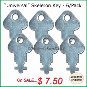 universal Skeleton Key For Paper Towel Toilet Tissue Dispensers 6 pk