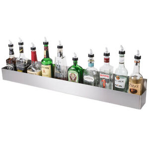 42 Silver Stainless Steel Single Tier Commercial Bar Speed Rail Rack