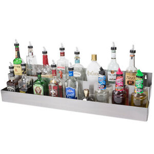 42 Silver Stainless Steel Double Tier Commercial Bar Speed Rail Rack
