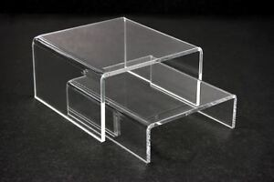 12 Sets Value Pack 24pc Of Clear Acrylic Riser Stand Counter Display 4 l X 4 w