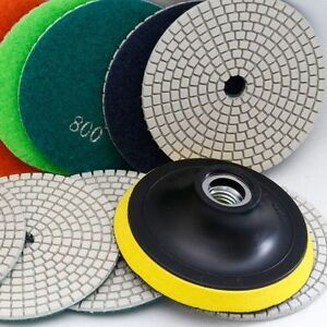 5 Inch Diamond Polishing Pad Set Granite Marble Concrete Stone Tile Wet D