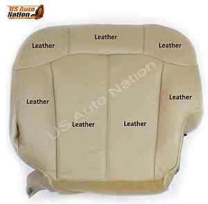1999 2000 2001 2002 Chevy Silverado Driver Side Bottom Leather Seat Cover Tan