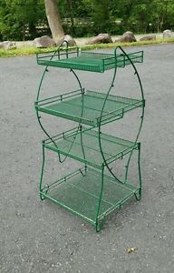 Vintage Retail Store Fixture Display Wire Shelf Or Garden Industrial