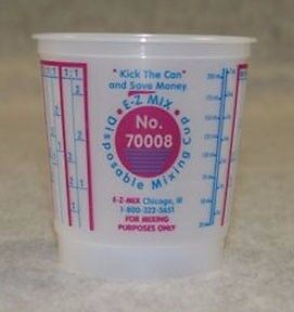 3 Cases Of 100 E z Mix 1 2 pint Plastic Mixing Cup Emx 70008 Fast Shipping