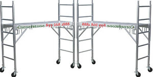 2 New Mfs Aluminum Scaffolding Rolling Towers With Aluminum Deck