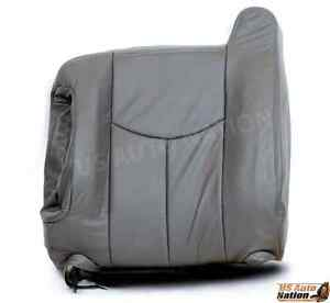 2003 2004 2005 2006 2007 Chevy Silverado Top Lean Back Leather Seat Cover Gray