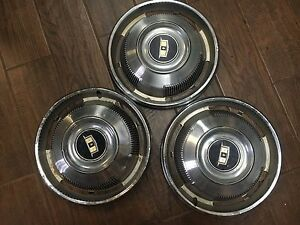 1967 Chevy Impala Caprice 14 Hubcaps set Of 3