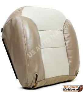 2000 1999 Chevy Tahoe Z71 4x4 Driver Side Bottom Leather Seat Cover 2 tone Tan