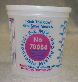 E z Mix 2 1 2 quart Plastic Mixing Cups Box Of 25 Emx 70086 Very Fast Shipping