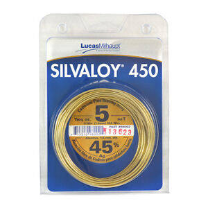 Lucas Milhaupt Silvaloy 450 45 Silver Solder Brazing Alloy 5 Oz 98002