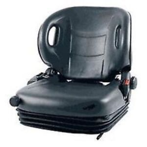 Full Suspension Toyota Forklift Seat Molded Lift Truck With Seat Belt Switch