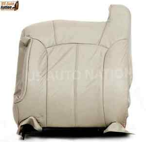 2000 2001 2002 Chevy Tahoe Suburban Top Lean Back Leather Seat Cover In Tan