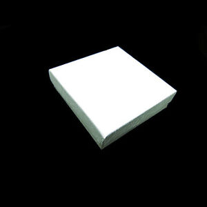 100 White Swirl Cotton Filled Jewelry Gift Boxes 3 1 2 X 3 1 2 X 1