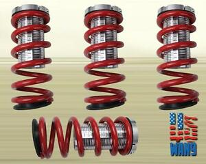 Jdm Red Lowering Adjustable Coilover Coil Spring Kit Civic Crx Delsol Integra
