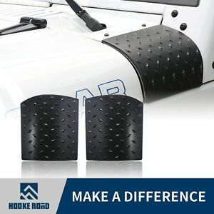 2x Abs Black Body Armor Side Cowl Cover For Jeep Wrangler Jk 2007 2017