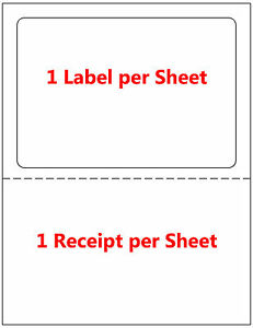 500 Labels Adhesive Tear Off Paper Receipt Best For Ebay Paypal Label Ups