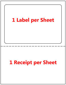 250 Labels Adhesive Tear Off Paper Receipt Best For Ebay Paypal Label Ups