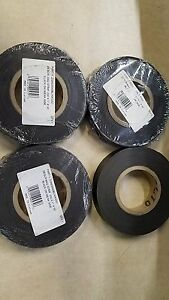 Lot Of 4 New Flexible Magnet Strip Black Vinyl Coating 1 32 X1 x 50 Feet