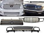 A Bil to 2 Grille 2004 2007 Toyota Land Cruiser Insert 1pc Upper Au Prado