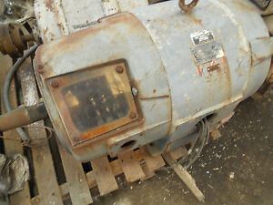 West P h Crane Duty Electric Motor 40 Hp 365x Double Shaft