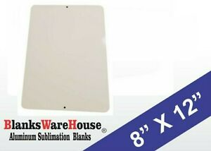 30 Pieces Of Parking Sign White Aluminum Sublimation Blanks 8 X 12 W Holes