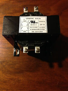 Generac Transformer P n 64126 200va 240 480 Vac For Automatic Transfer Switch
