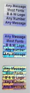 1000 Swl Svag 75 Sq Svag Warranty Hologram Sticker Labels Tamper Evident Seals